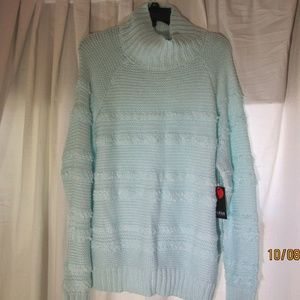 a.n.a. gentle aqua knit sweater Size M turtle neck